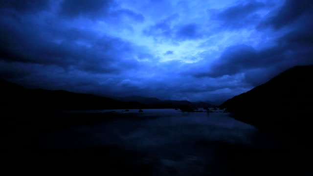Lake before the daybreak