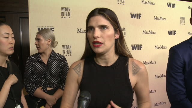 interview lake bell at 2019 women in film annual gala presented by max mara with additional support from partners delta air lines and lexus at the... - delta air lines stock-videos und b-roll-filmmaterial