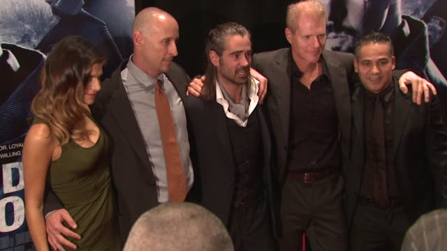 lake bell, gavin o'connor, colin farrell, noah emmerich and john ortiz at the 'pride and glory' new york premiere at new york ny. - colin farrell stock videos & royalty-free footage