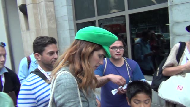 Lake Bell greets fans at Celebrity Sightings ComicCon International 2013 Lake Bell greets fans at Celebrity Sightings on July 19 2013 in San Diego...
