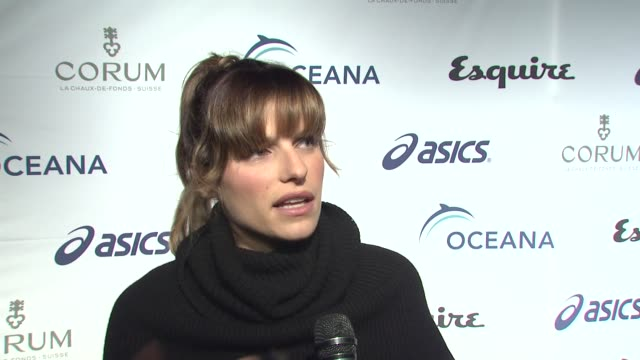 INTERVIEW Lake Bell on tonight's event on what she knows about Oceana on what she's looking forward to tonight and on what she expects to see inside...