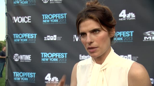 INTERVIEW Lake Bell on why she loves this festival on why it is important to contestants at Tropfest New York 2013 In Brooklyn's Prospect Park on...