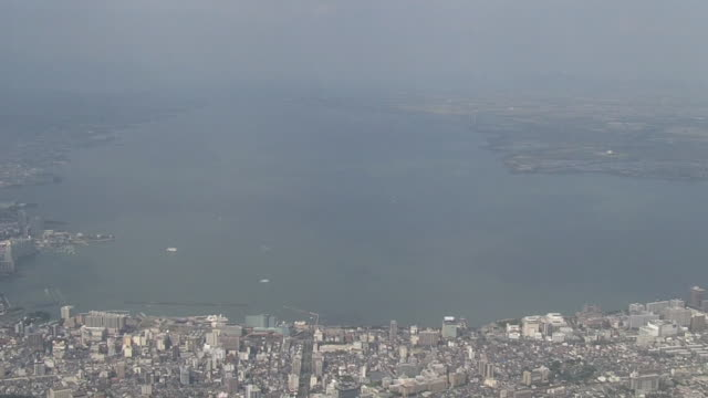 aerial, lake biwa, shiga, japan - shiga prefecture stock videos & royalty-free footage