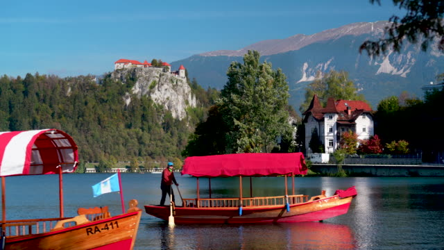 lake bled - slovenia - slowenien stock-videos und b-roll-filmmaterial