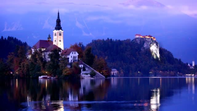 lake bled slovenia - slovenia stock videos & royalty-free footage