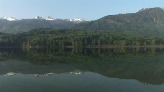 ws, pan, lake bohinj and mountains, triglav national park, gorenjska, slovenia - triglav national park stock videos and b-roll footage