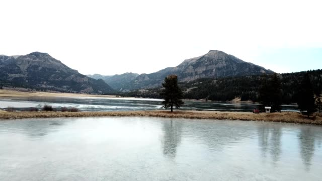 Lake by Mountains in Pagosa Springs Colorado