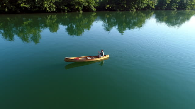 Sjön Kanotpaddling