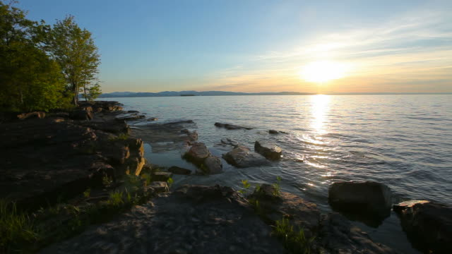 lake champlain vermont - vermont stock videos & royalty-free footage