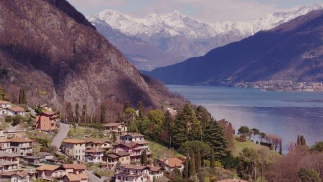 Comer See von Menaggio im Frühjahr - Drohne Schuss