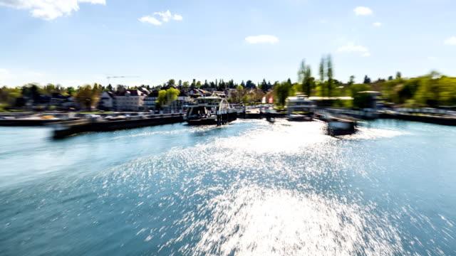 lake constance ferry time lapse - フェリーターミナル点の映像素材/bロール