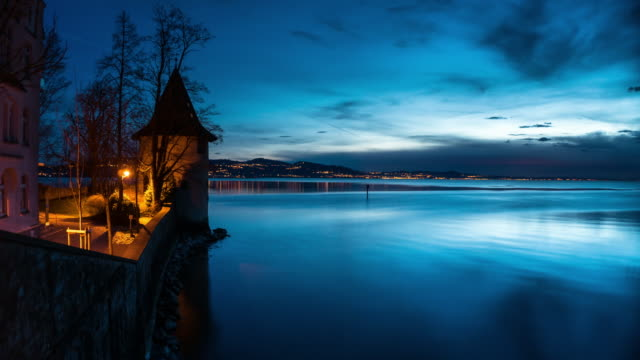 Lake Constance from Lindau at Sunset - Time Lapse