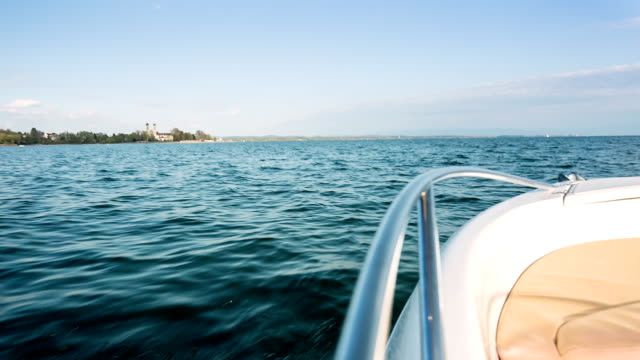 lake constance on a motor boat - boat point of view stock videos and b-roll footage