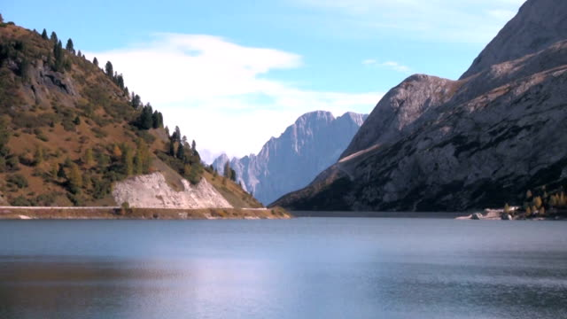 Lake Fedaia in Trentino, Italy.