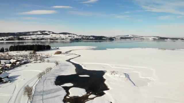 lake forggensee, bavaria, germany, europe - garmisch partenkirchen stock videos and b-roll footage
