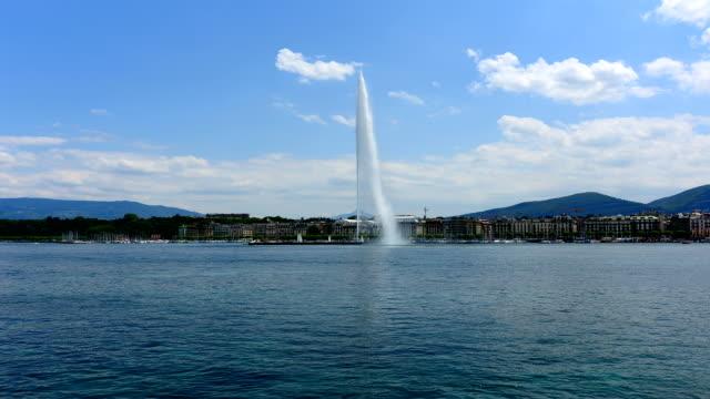 lake Geneva and Big fountain