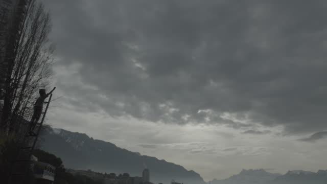 vidéos et rushes de lake geneva visuals - montreux