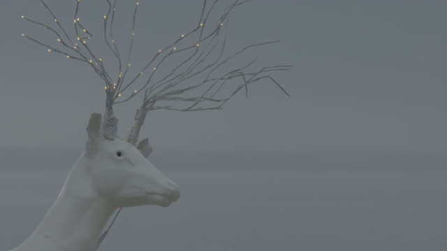 lake geneva visuals with reindeer statue - montreux stock videos & royalty-free footage