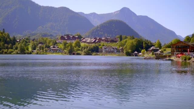 lake grundlsee, salzkammergut, austria - traditionally austrian stock videos & royalty-free footage