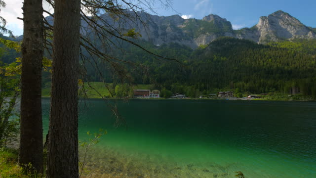 lake hintersee near ramsau, upper bavaria, bavaria, germany germany, deutschland - deutschland stock videos & royalty-free footage