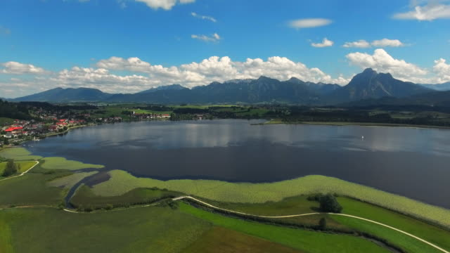 Lake Hopfensee And Hopfen Village In Bavarian Allgau