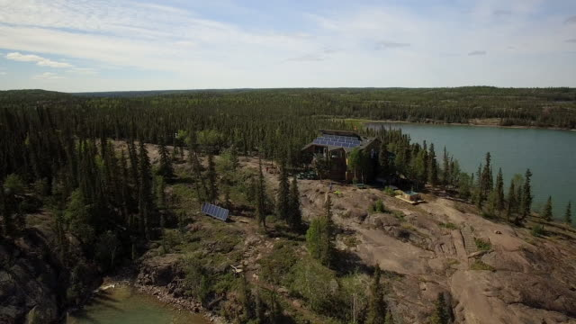 lake house near calgary - rural scene stock videos & royalty-free footage
