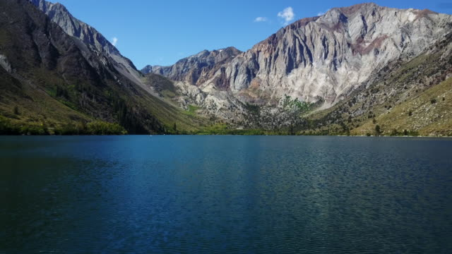 lake in california mountains, aerial - majestic stock videos & royalty-free footage