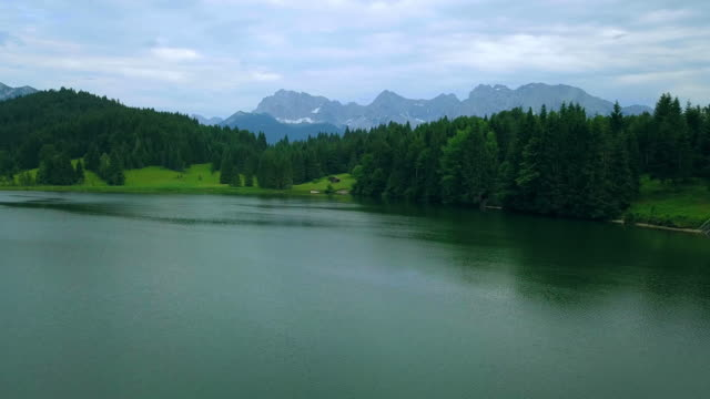 lake in mountains - bavaria stock videos & royalty-free footage