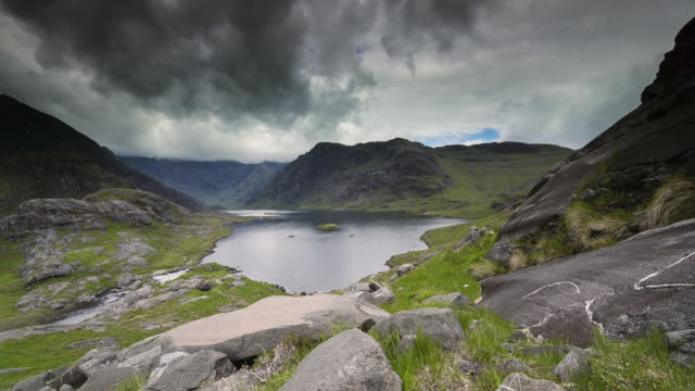 lake in mountains - skye stock videos and b-roll footage