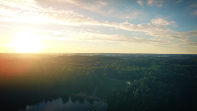 lake in sweden flyover - dusk stock videos & royalty-free footage