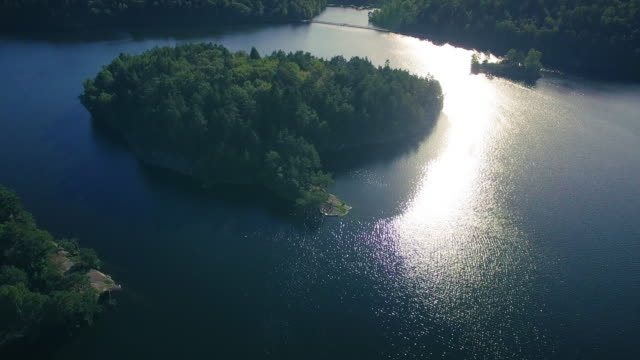Lake in Zweden viaduct