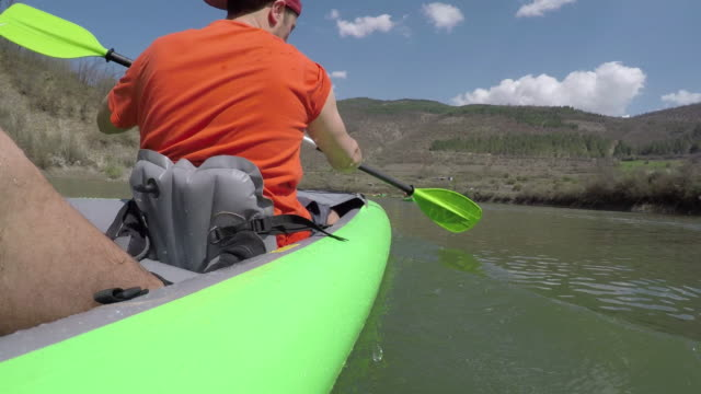 lake kayaking - eco tourism stock videos & royalty-free footage