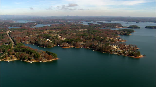 Lake Keowee  - Aerial View - South Carolina,  Oconee County,  United States