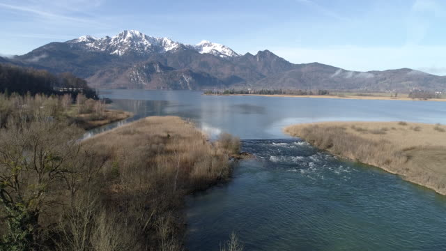 stockvideo's en b-roll-footage met lake kochelsee, bavaria, germany, europe - bavarian alps