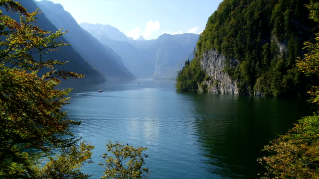Lake Koenigssee In The Bavarian Alps