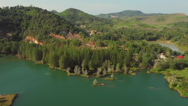 lake liwong, switzerland's lake of thailand, songkhla - named wilderness area stock videos & royalty-free footage