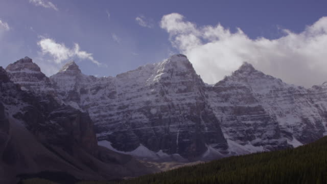 lake louise in alberta, canada - valley of the ten peaks stock videos and b-roll footage