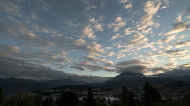 Vierwaldstättersee in der Schweiz, Timelapse.