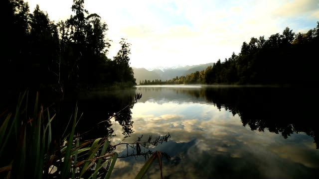 Lake Matheson reflection before sunrise