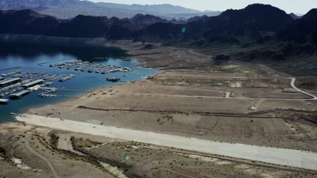 Lake Mead aerial view during a drought