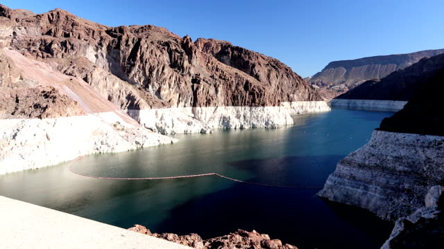 lake mead during drought - lake mead video stock e b–roll
