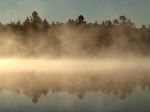 lake mist - roll over stock videos and b-roll footage