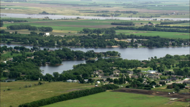 lake mitchell  - aerial view - south dakota, davison county, united states - south dakota stock videos & royalty-free footage