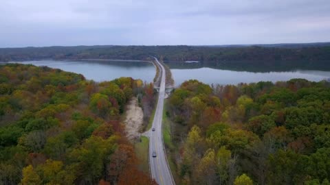 lake monroe during the fall - indiana stock videos & royalty-free footage