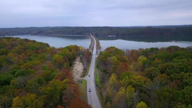 lake monroe during the fall - midwest usa stock videos & royalty-free footage