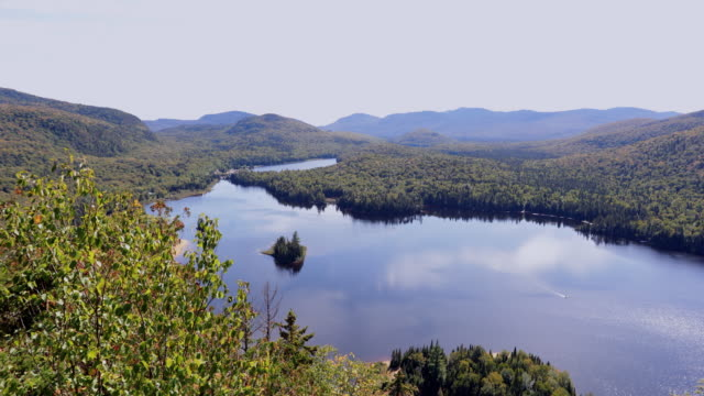 lake monroe mont tremblant national park, quebec, canada - national park stock videos & royalty-free footage