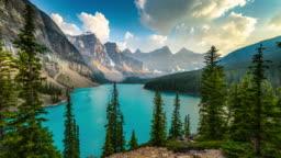Lake Moraine in Banff National Park Alberta, Canada - Time Lapse