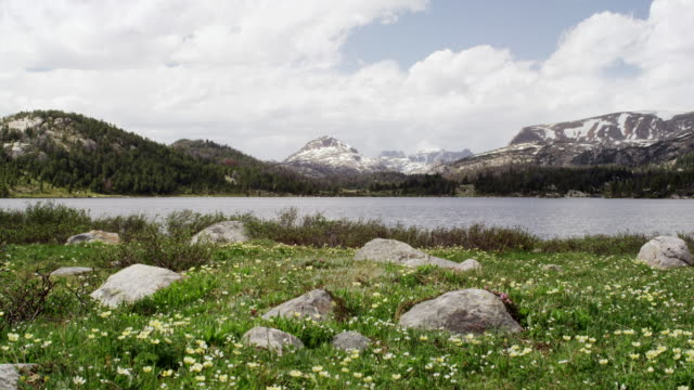 vídeos y material grabado en eventos de stock de lake near beartooth highway in montana time lapse - tierra salvaje