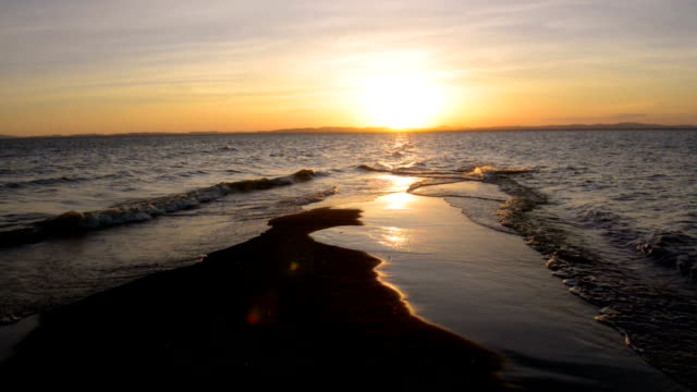 lake nicaraqua at sunset - nicaragua stock videos and b-roll footage