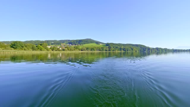 lake obertrumer see, austria, in summer - traditionally austrian stock videos & royalty-free footage